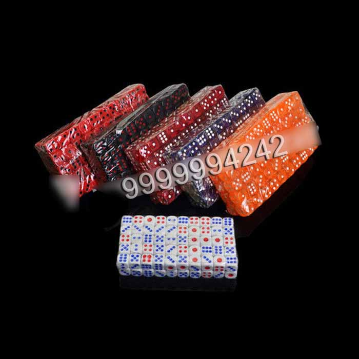 14mm Transparent Plastic Casino Magic Dice Set With Medicine Inside