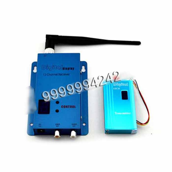Blue Aluminum Gambling Accessory Four Channel Wireless Receiver 1.2 Ghz