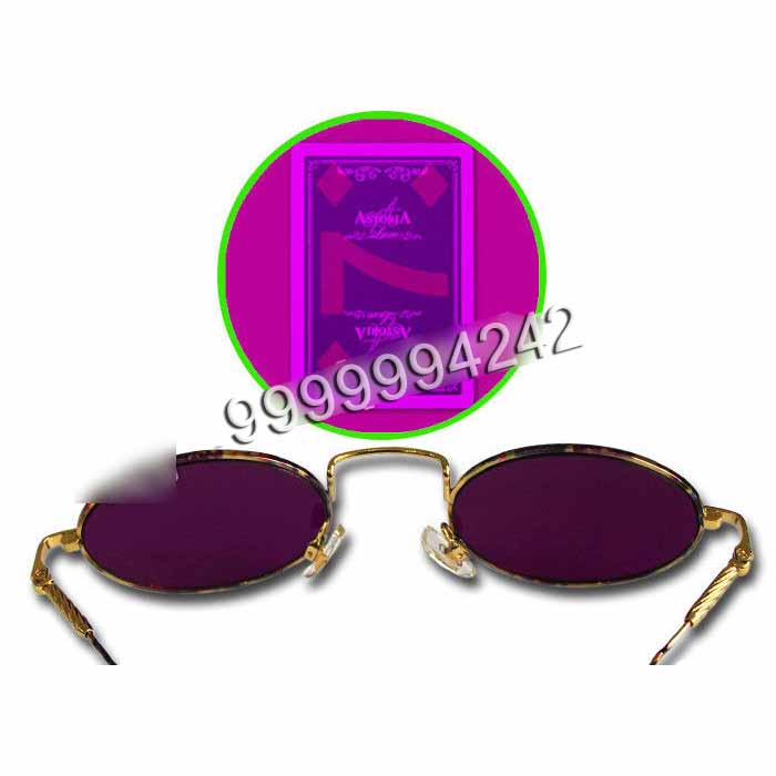 Metal Frame Gambling Glasses For Marked Cards Magic Tricks